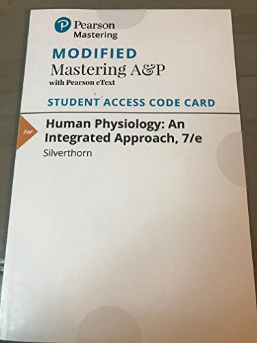 9780134067896: Modified Mastering A&P with Pearson eText -- ValuePack Access Card -- for Human Physiology: An Integrated Approach (7th Edition)