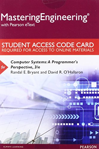 9780134071923: Mastering Engineering with Pearson eText -- Standalone Access Card -- for Computer Systems: A Programmer's Perspective