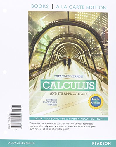 9780134072647: Calculus and Its Applications Expanded Version Media Update Books a la Carte Edition Plus MyMathLab with Pearson eText -- Access Card Package
