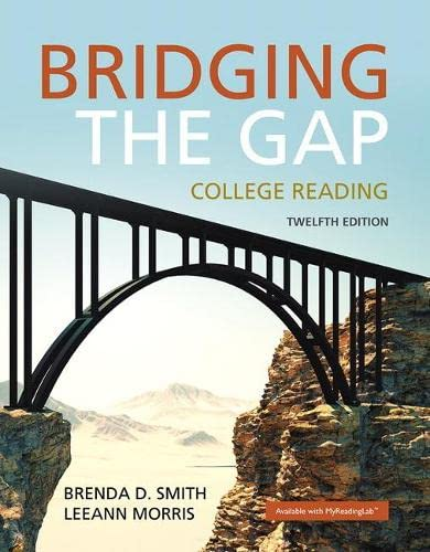 9780134072760: Bridging the Gap: College Reading (12th Edition)