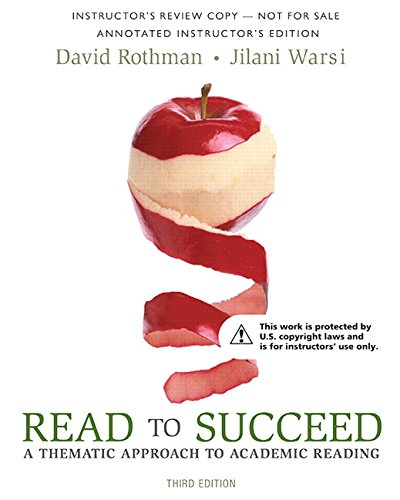 9780134072869: Read to Succeed: A Thematic Approach to Academic Reading, Books a la Carte Edition (3rd Edition)