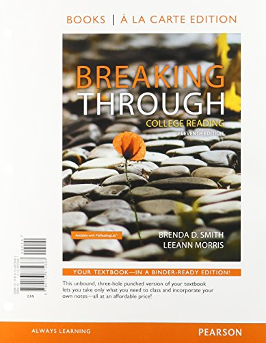 9780134072982: Breaking Through: College Reading, Books a la Carte Plus MyReadingLab with Pearson eText -- Access Card Package (11th Edition)