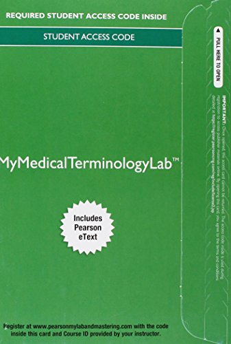 9780134073163: MyLab Medical Terminology with Pearson eText - Access Card - Medical Terminology: A Living Language