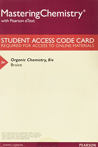 9780134074665: MasteringChemistry with Pearson eText -- ValuePack Access Card -- for Organic Chemistry