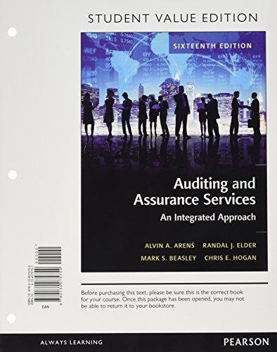 9780134075754: Auditing and Assurance Services, Student Value Edition (16th Edition)