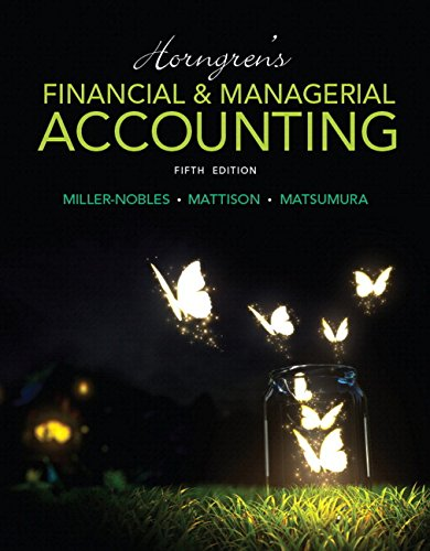 9780134077345: Horngren's Financial & Managerial Accounting Plus MyLab Accounting with Pearson eText -- Access Card Package (5th Edition) (Miller-Nobles et al., The Horngren Accounting Series)