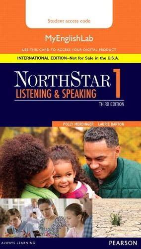 9780134078243: NorthStar Listening and Speaking 1 MyLab English, International Edition (3rd Edition)