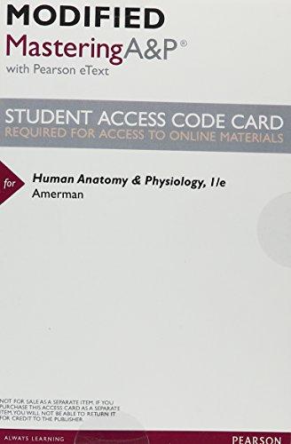 Human Anatomy Physiology Modified by Erin Amerman - AbeBooks