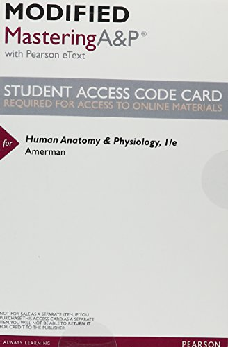 9780134079448: Modified Mastering A&P with Pearson eText -- ValuePack Access Card -- for Human Anatomy & Physiology