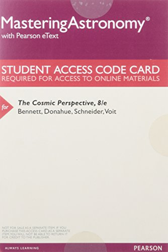 9780134080574: MasteringAstronomy with Pearson eText -- ValuePack Access Card -- for The Cosmic Perspective