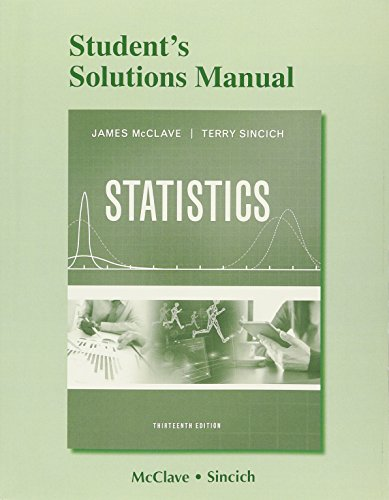 9780134081120: Student's Solutions Manual for Statistics
