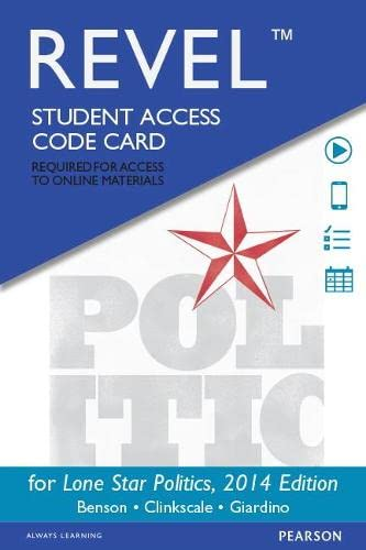 9780134081717: REVEL for Lone Star Politics, 2014 Elections and Updates Edition - Access Card (2nd Edition)