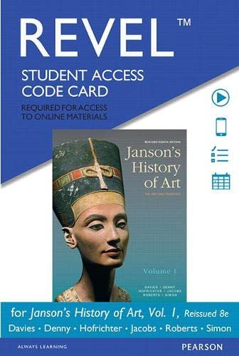 9780134081748: REVEL for Janson's History of Art, Volume 1 Reissued Edition -- Access Card (8th Edition)