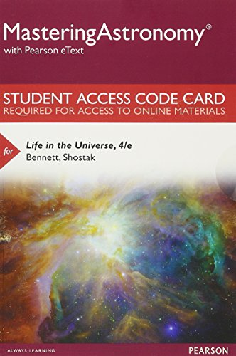 9780134081823: MasteringAstronomy with Pearson eText -- Standalone Access Card -- for Life in the Universe (4th Edition)