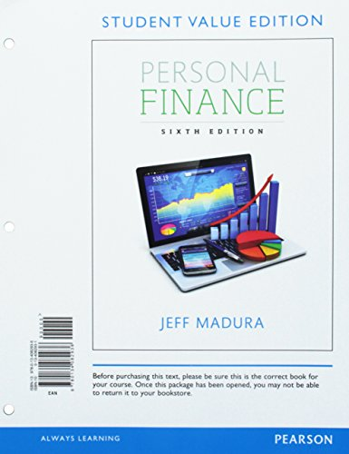9780134082936: Personal Finance, Student Value Edition (6th Edition) (Pearson Series in Finance)