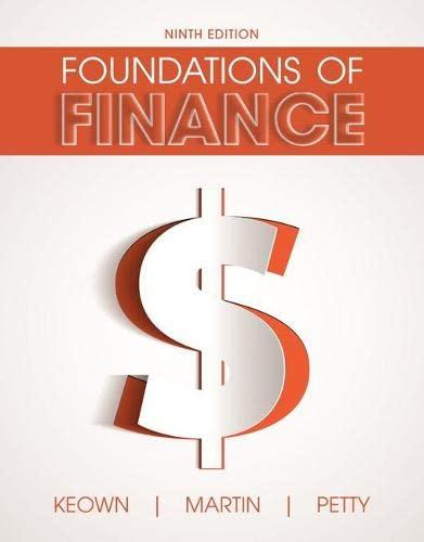 Foundations of Finance (Hardback): Arthur J. Keown, John D. Martin, J. William Petty