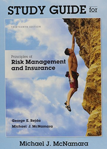 9780134083339: Study Guide for Principles of Risk Management and Insurance