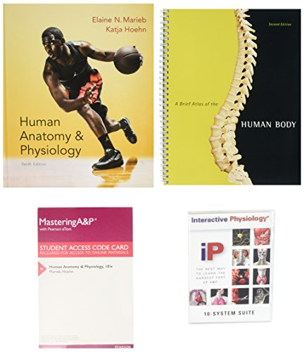 9780134087658: Human Anatomy & Physiology + MasteringA&P With Pearson Etext + Interactive Physiology 10-system Suite Cd-rom + A Brief Atlas of the Human Body