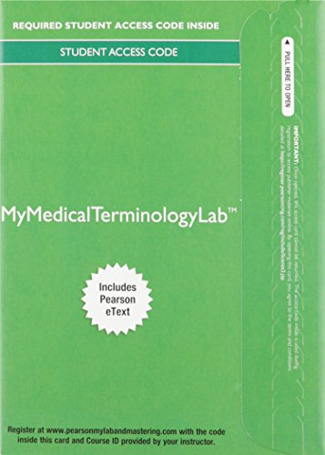 9780134088068: MyLab Medical Terminology with Pearson eText - Access Card - Medical Terminology Complete!