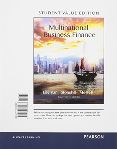 9780134088235: Multinational Business Finance, Student Value Edition Plus MyLab Finance with Pearson eText -- Access Card Package (14th Edition)