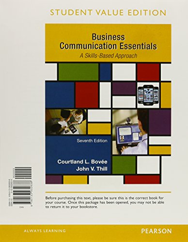 9780134088860: Business Communication Essentials, Student Value Edition Plus MyLab Business Communication with Pearson eText -- Access Card Package (7th Edition)