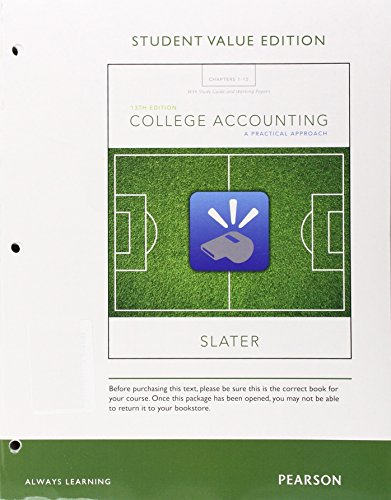 9780134089058: College Accounting Chapters 1-12 with Study Guide and Working Papers, Student Value Edition Plus MyAccountingLab with Pearson eText -- Access Card Package (13th Edition)