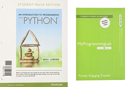 An Introduction to Programming Using Python, Student: Schneider, David I.