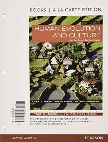 9780134090665: Human Evolution and Culture, Books a la Carte Edition Plus Revel -- Access Card Package (8th Edition)
