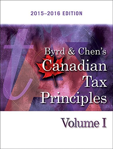 9780134096117: Byrd & Chen's Canadian Tax Principles 2015-2016 Edition