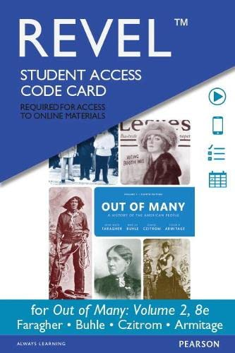 9780134100135: REVEL for Out of Many, Volume 2 -- Access Card (8th Edition)