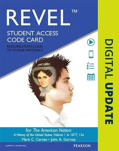 9780134100159: REVEL for The American Nation A History of the United States, Volume 1 - Access Card (15th Edition)