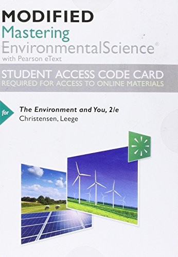9780134102504: Modified Mastering Environmental Science with Pearson eText - Standalone Access Card - for The Environment and You (2nd Edition)