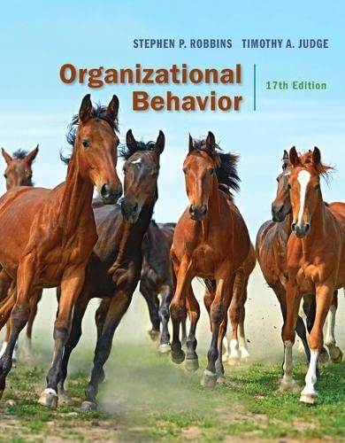 Organizational Behavior: Robbins, Stephen P.