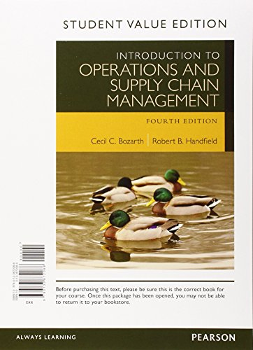 9780134104072: Introduction to Operations and Supply Chain Management, Student Value Edition Plus Myomlab with Pearson Etext -- Access Card Package