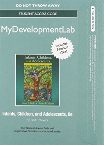 9780134104300: NEW MyLab Human Development with Pearson eText - Standalone Access Card - for Infants, Children, and Adolescents (8th Edition)