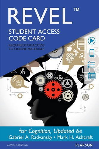 9780134104355: REVEL for Cognition -- Access Card (6th Edition)