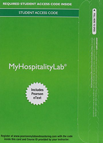 9780134104850: MyHospitalityLab with Pearson eText -- Access Card -- for Exploring the Hospitality Industry
