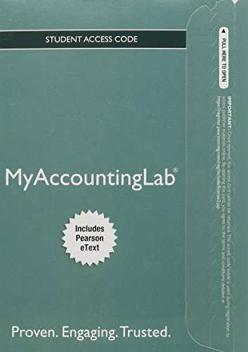 9780134104935: MyLab Accounting with Pearson eText -- Access Card -- for Prentice Hall's Federal Taxation 2016 Comprehensive (My Accounting Lab)