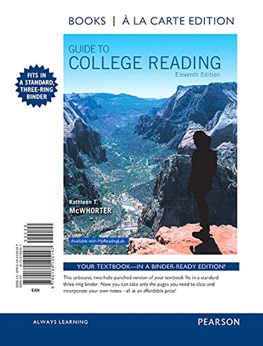 9780134105147: Guide to College Reading, Books a la Carte Edition (11th Edition)