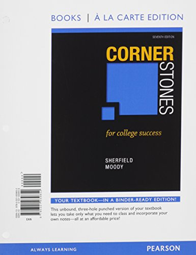 9780134105833: Cornerstones for College Success, Student Value Edition, 7/e Plus NEW MyStudentSuccessLab with Pearson eText -- Access Card Package (7th Edition)