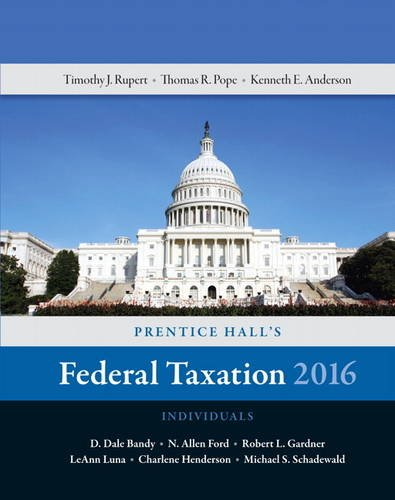 9780134105901: Prentice Hall's Federal Taxation 2016 Individuals (29th Edition)