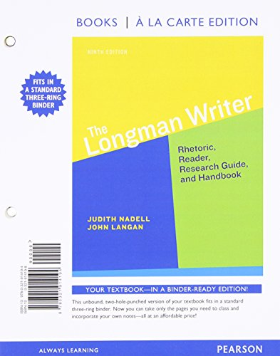 9780134105925: The Longman Writer, Books a la Carte Plus MyLab Writing with eText -- Access Card Package (9th Edition)