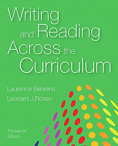 9780134106755: Writing and Reading Across the Curriculum Plus MyWritingLab with Pearson eText - Access Card Package (13th Edition)