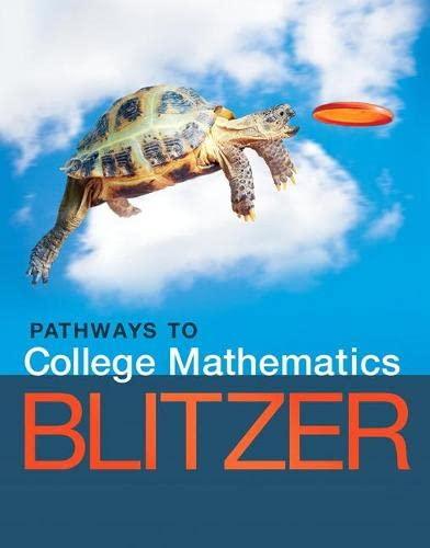 9780134107165: Pathways to College Mathematics