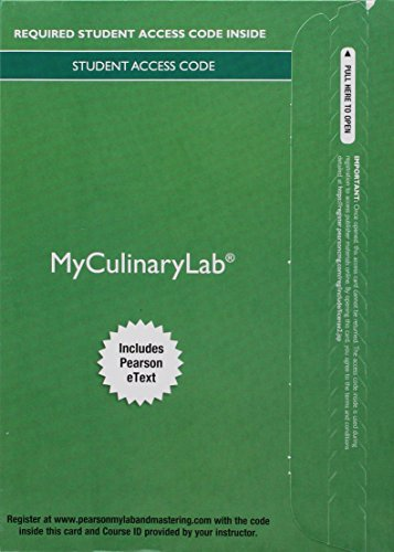 9780134109244: MyCulinaryLab with Pearson eText -- Access Card -- for On Cooking Update, On Baking Update, and Garde Manger