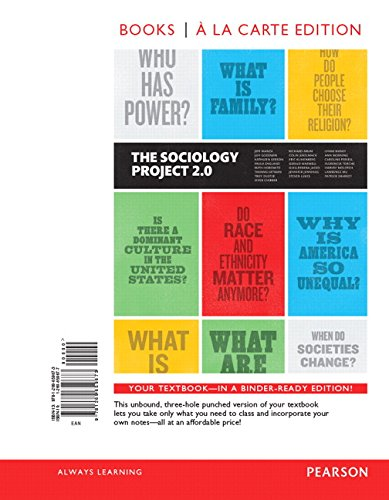 9780134109497: The Sociology Project: Introducing the Sociological Imagination, Books a la Carte Edition