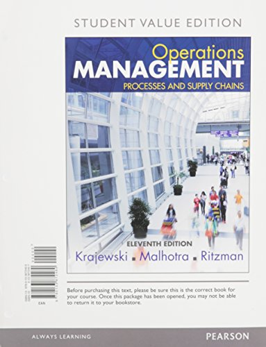 9780134111056: Operations Management: Processes and Supply Chains, Student Value Edition Plus MyLab Operations Management with Pearson eText -- Access Card Package (11th Edition)