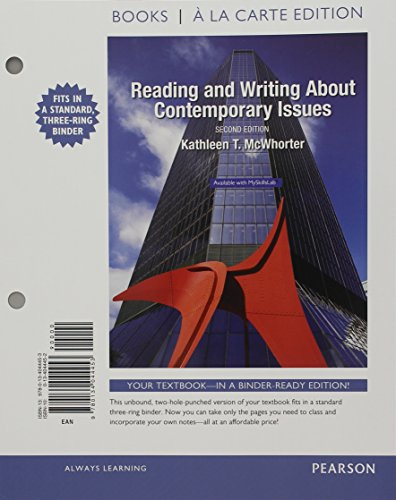 9780134112480: Reading and Writing About Contemporary Issues, Books a la Carte Plus MyLab Reading & Writing Skills with eText -- Access Card Package (2nd Edition)