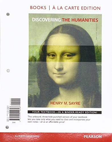 9780134113623: Discovering the Humanities, Books a la Carte Edition & Writer -- ValuePack Access Card & NEW MyArtsLab with Pearson eText -- ValuePack Access Card -- for Discovering the Humanities Package