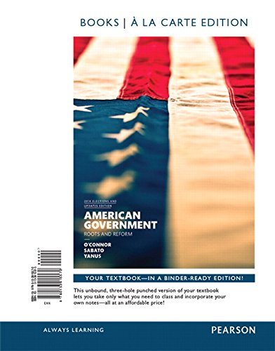 9780134114019: American Government, 2014 Elections and Updates Edition, Books A La Carte Edition Plus NEW MyPoliSciLab for American Government -- Access Card Package (12th Edition)